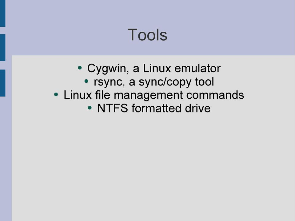 sync/copy tool Linux file