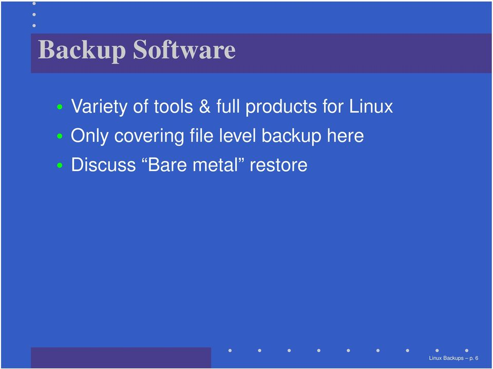 covering file level backup here