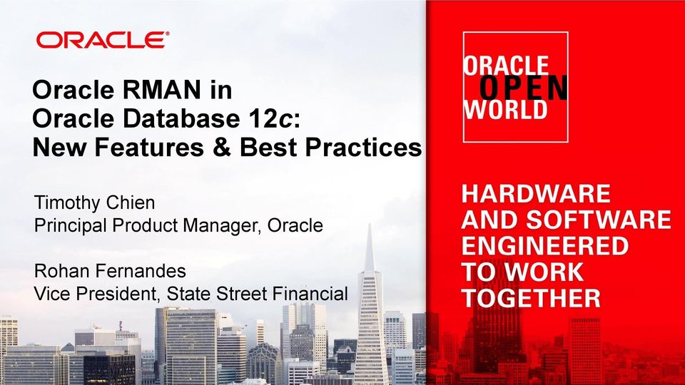 Principal Product Manager, Oracle Rohan