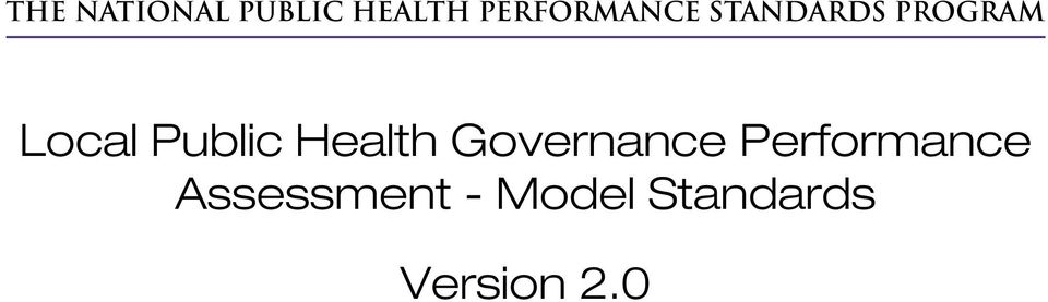 Local Public Health Governance