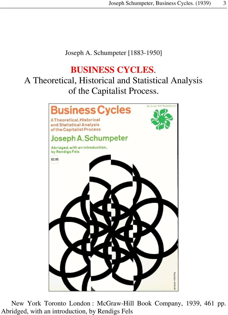 A Theoretical, Historical and Statistical Analysis of the Capitalist