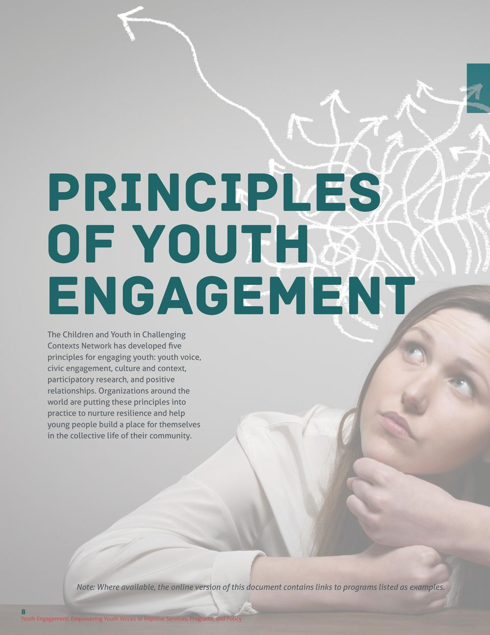 Organizations around the world are putting these principles into practice to nurture resilience and help young people build a place for themselves in the