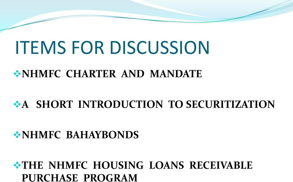 SECURITIZATION NHMFC BAHAYBONDS THE