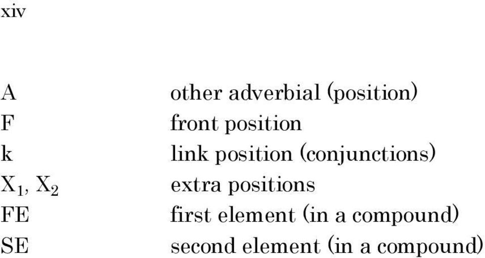 (conjunctions) extra positions first