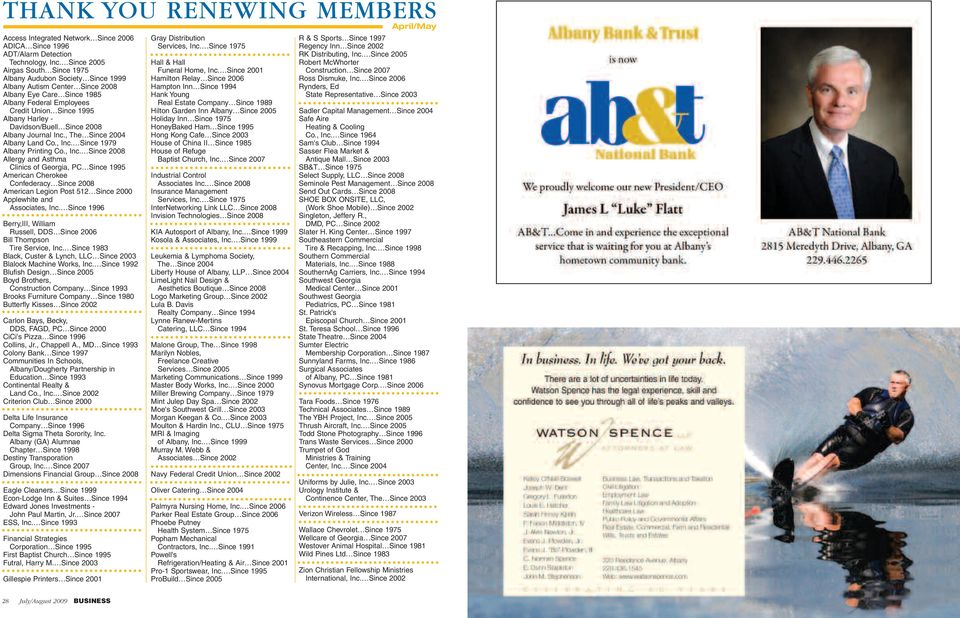 Davidson/Buell Since 2008 Albany Journal Inc., The Since 2004 Albany Land Co., Inc.