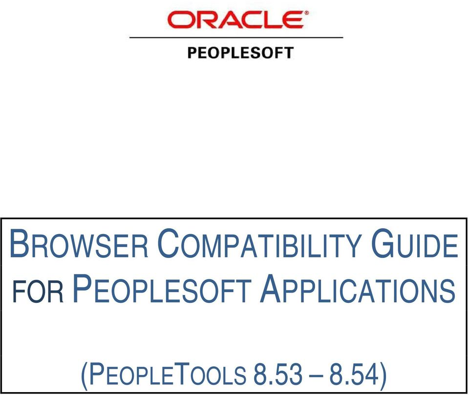 FOR PEOPLESOFT