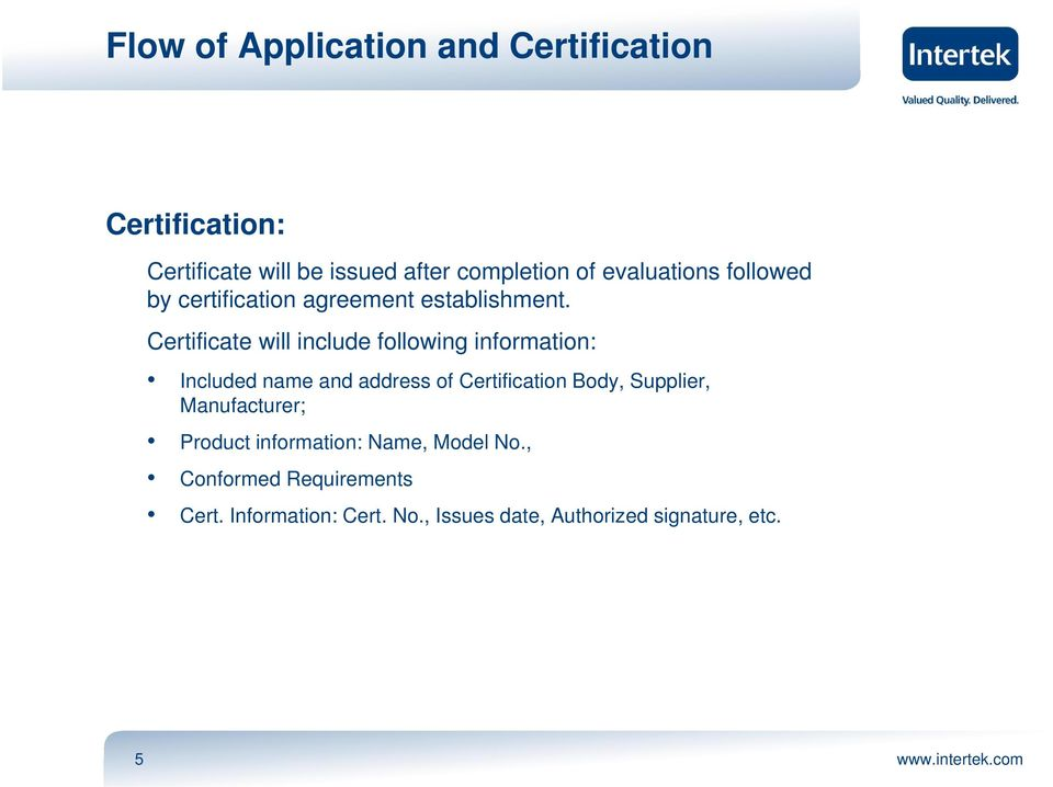 Certificate will include following information: Included name and address of Certification Body,
