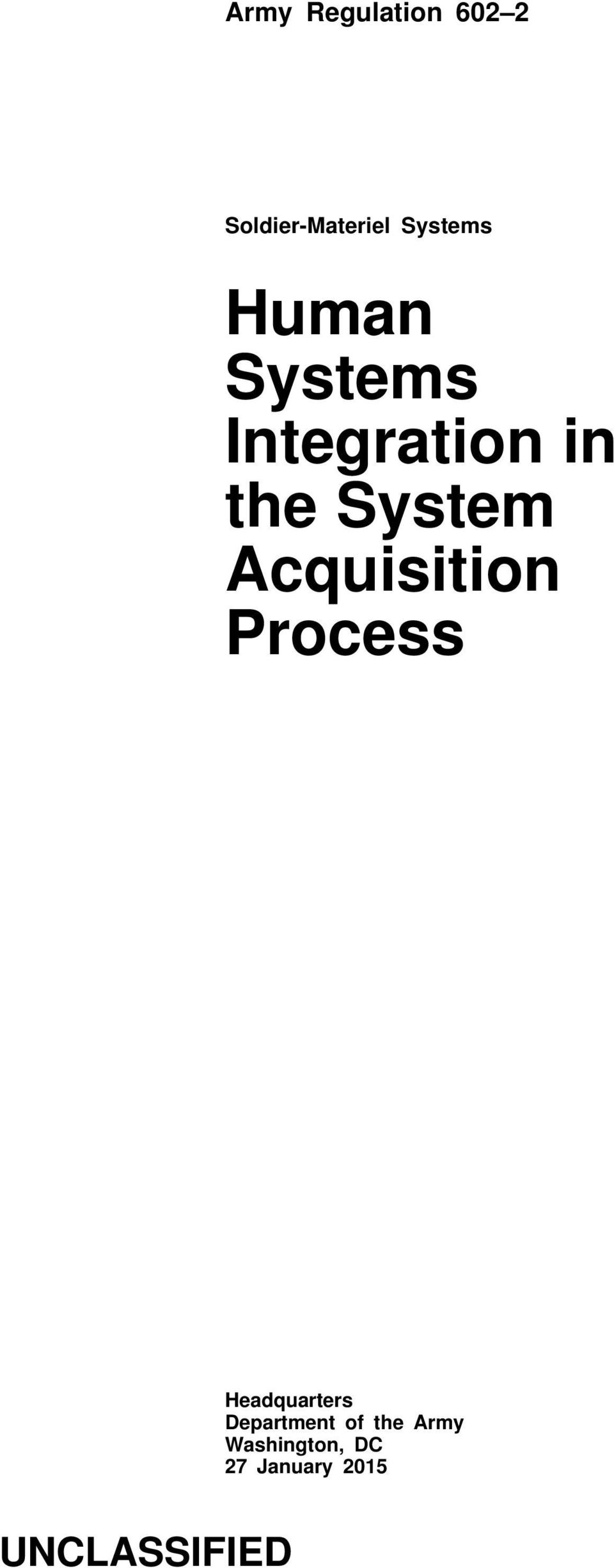 Acquisition Process Headquarters Department of