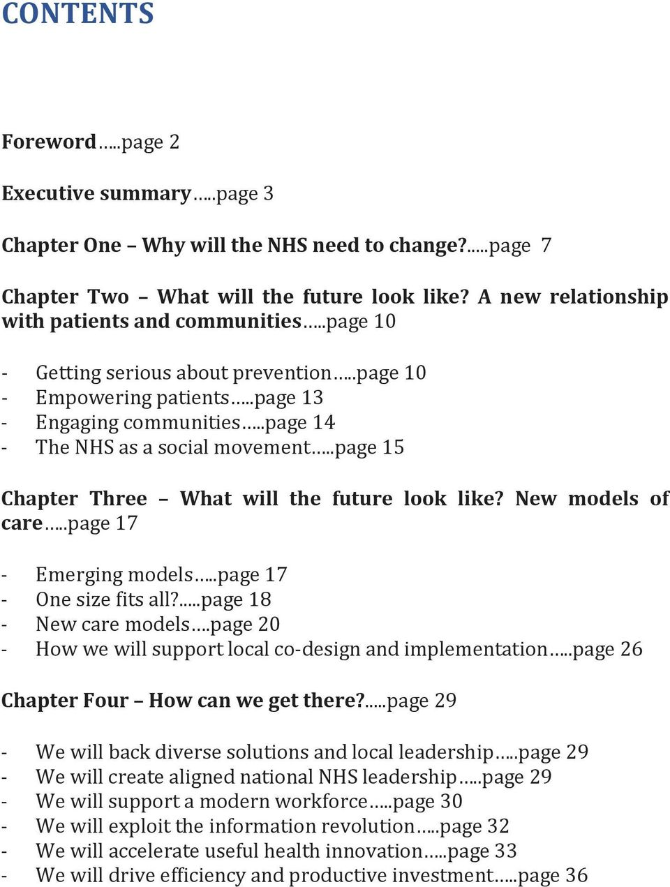 New models of care..page 17 - Emerging models..page 17 - One size fits all?...page 18 - New care models.page 20 - How we will support local co-design and implementation.