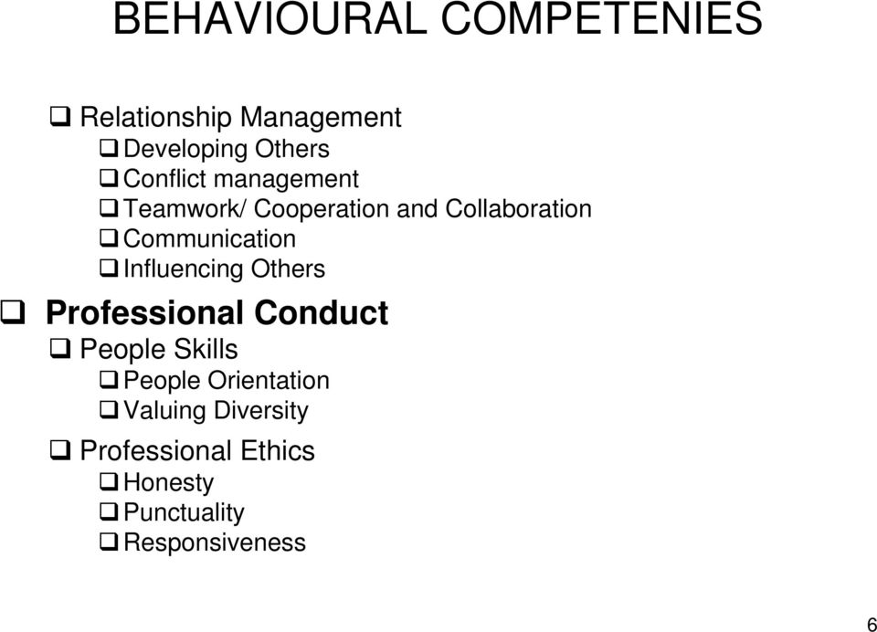 Communication Influencing Others Professional Conduct People Skills