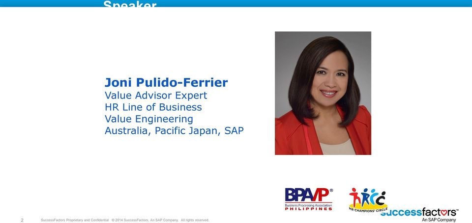 Japan, SAP 2 SuccessFactors Proprietary and