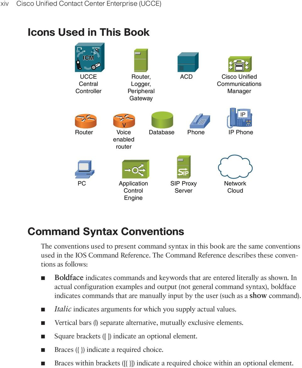 Proxy Server Network Cloud Command Syntax Conventions The conventions used to present command syntax in this book are the same conventions used in the IOS Command Reference.
