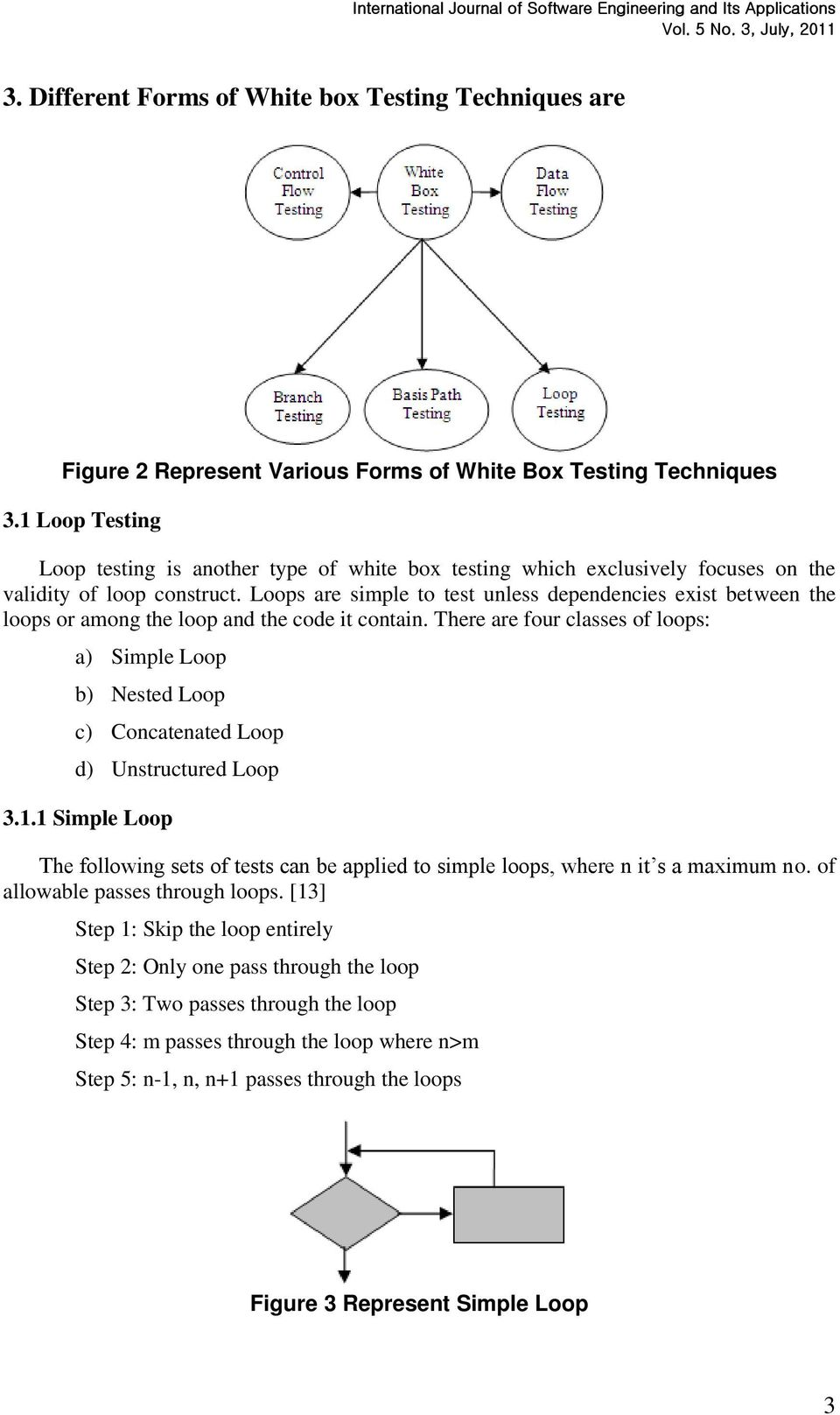 Loops are simple to test unless dependencies exist between the loops or among the loop and the code it contain.