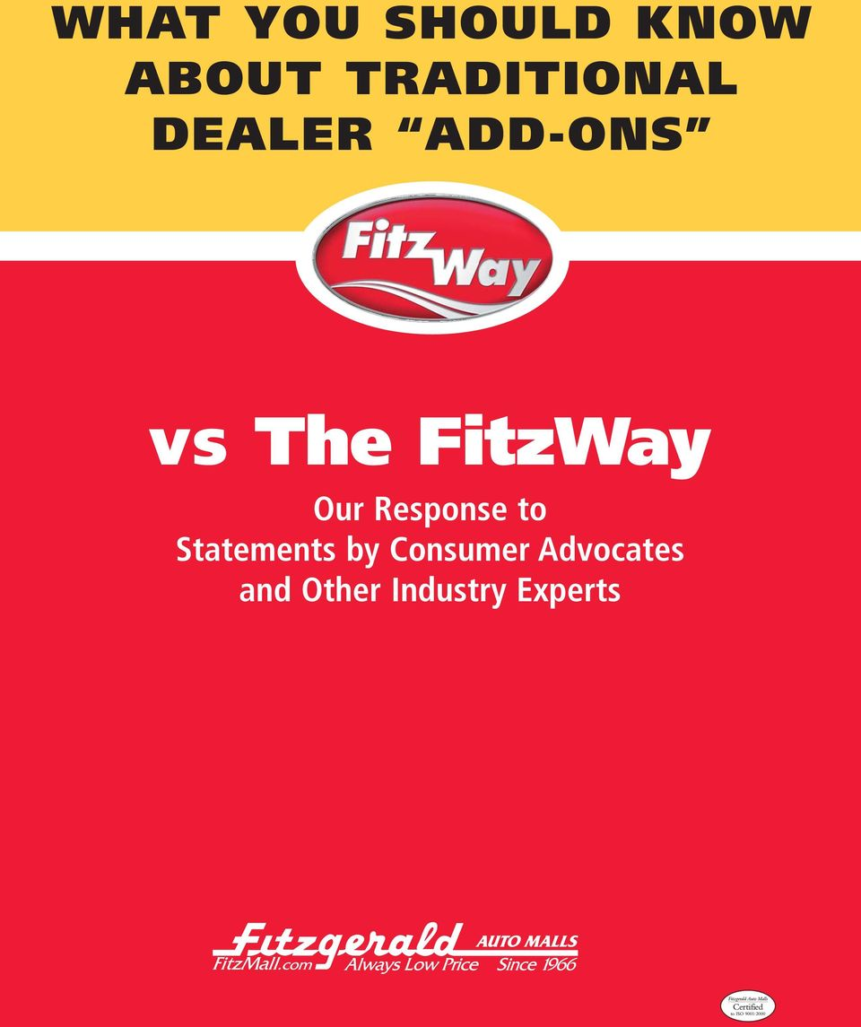 FitzWay Our Response to Statements