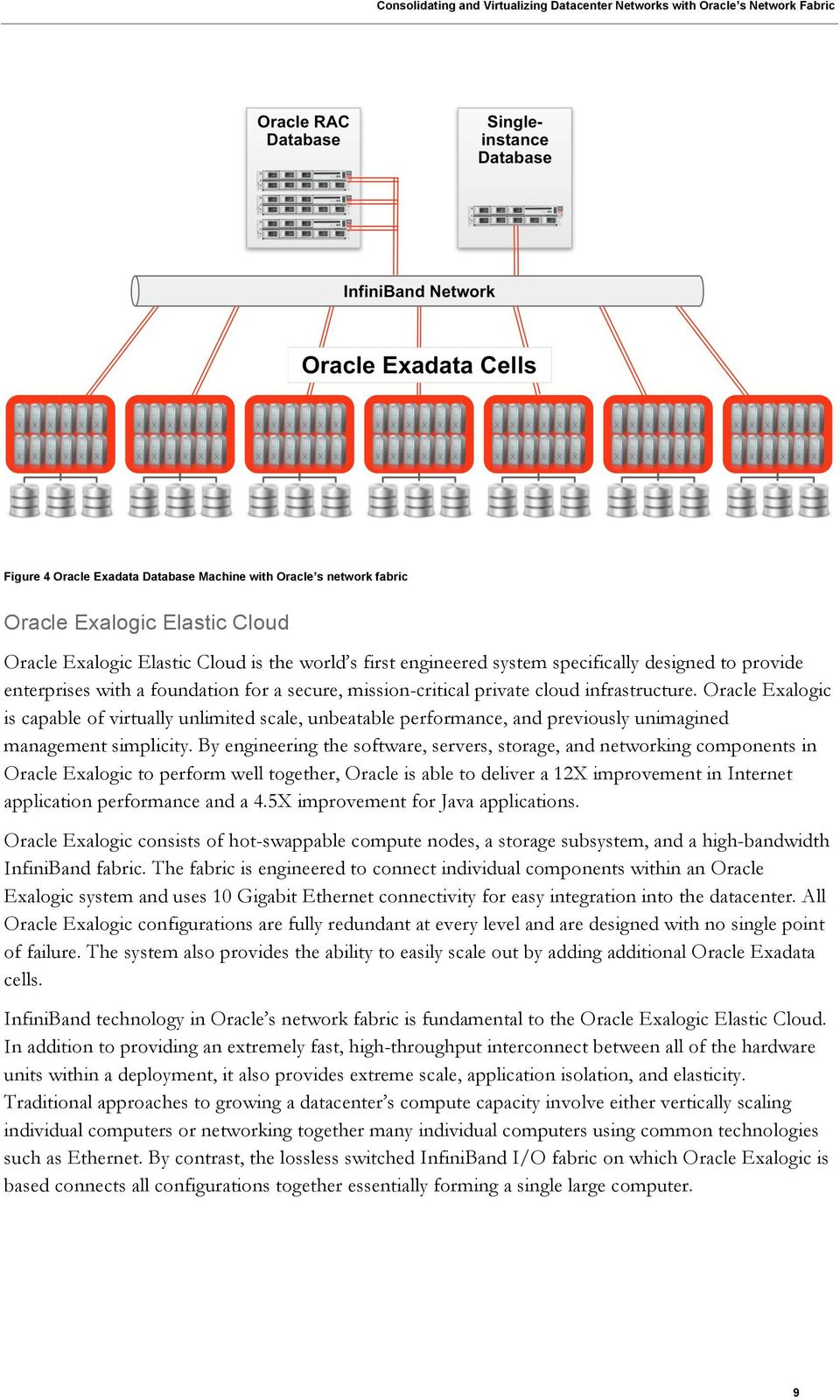 Oracle Exalogic is capable of virtually unlimited scale, unbeatable performance, and previously unimagined management simplicity.