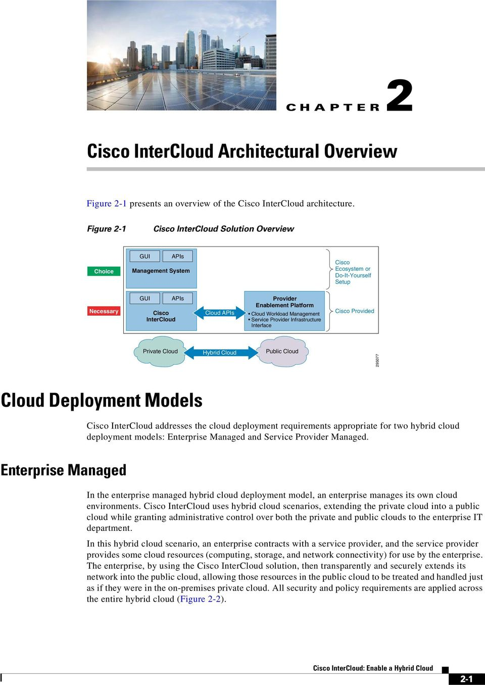 Cloud Workload Management Service Provider Infrastructure Interface Cisco Provided Private Cloud Hybrid Cloud Public Cloud 295077 Cloud Deployment Models Cisco InterCloud addresses the cloud