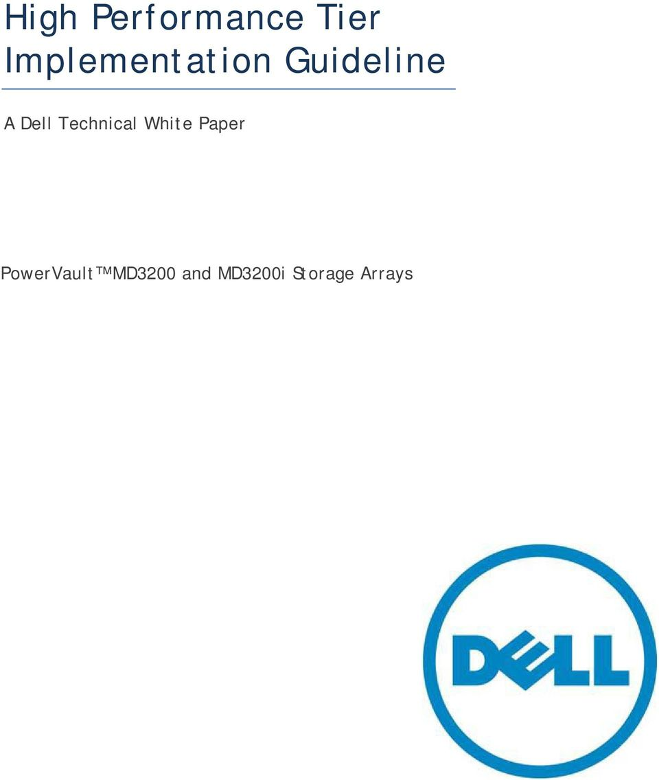 Dell Technical White Paper