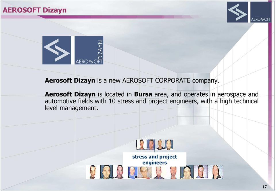 Aerosoft Dizayn is located in Bursa area, and operates in
