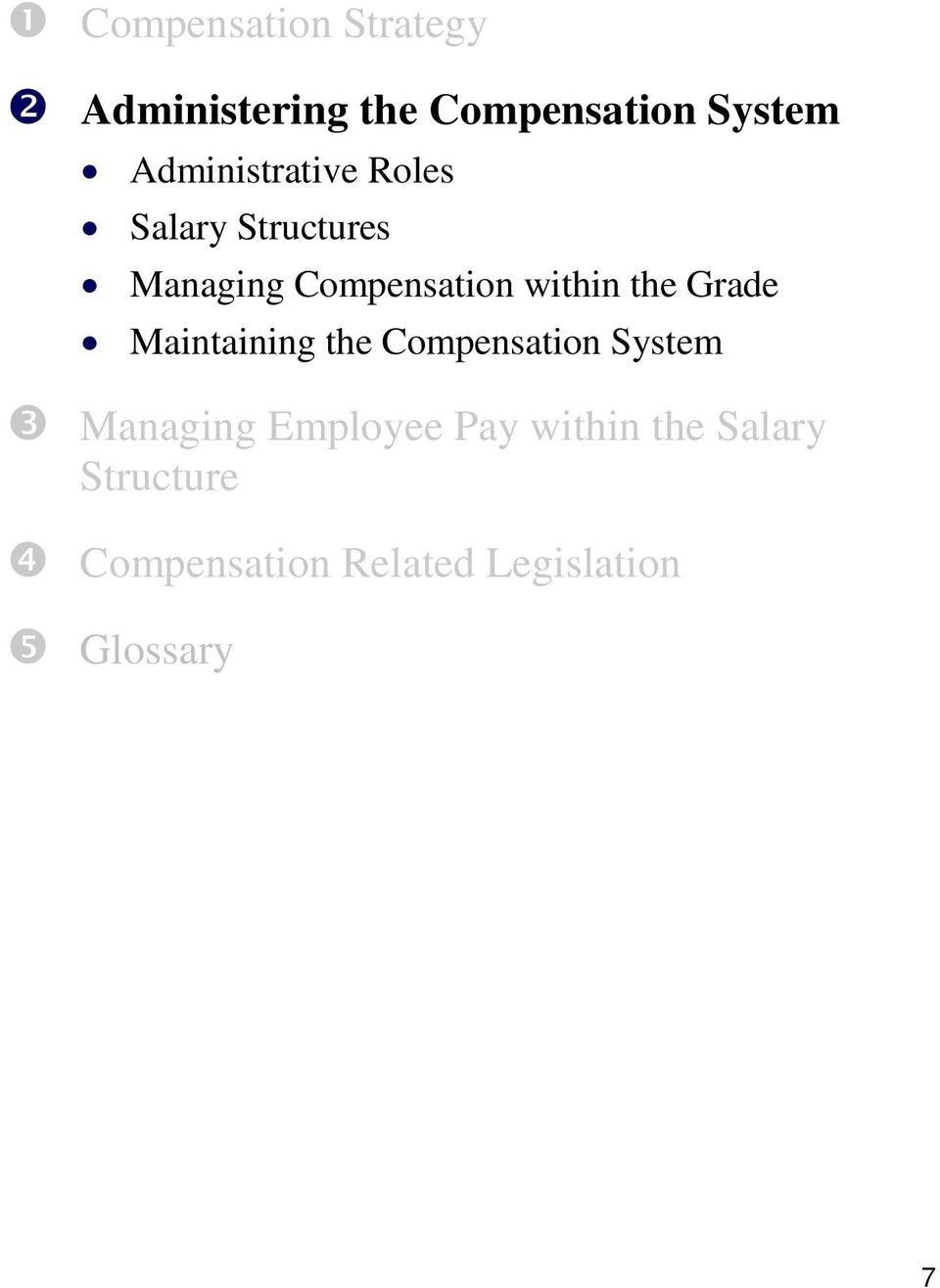 within the Grade Maintaining the Compensation System Managing