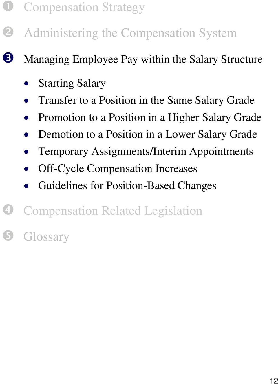 Higher Salary Grade Demotion to a Position in a Lower Salary Grade Temporary Assignments/Interim