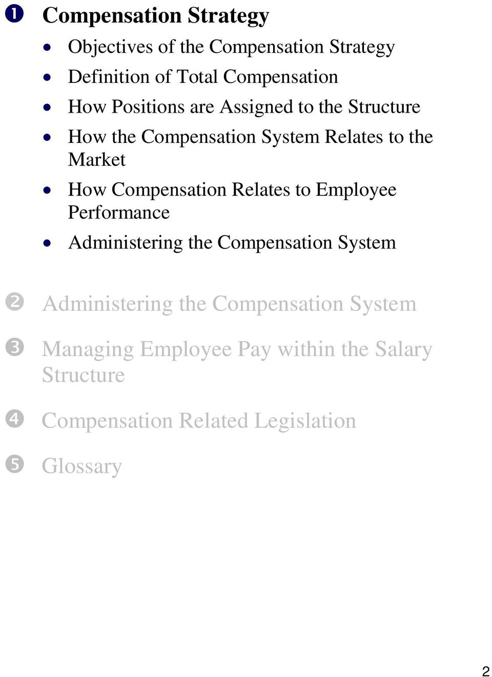 Compensation Relates to Employee Performance Administering the Compensation System Administering the