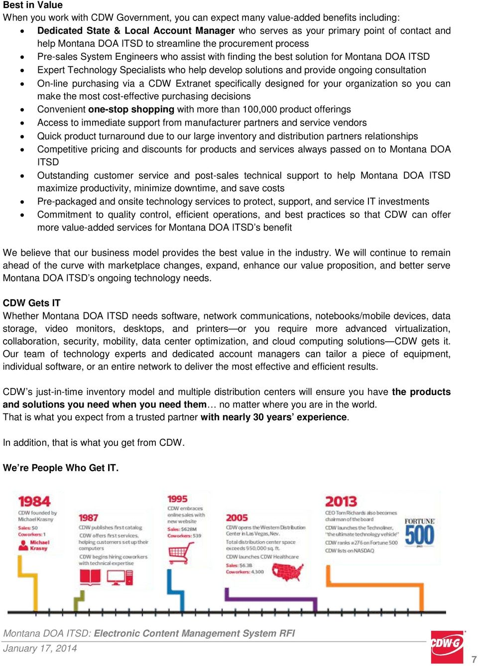 solutions and provide ongoing consultation On-line purchasing via a CDW Etranet specifically designed for your organization so you can make the most cost-effective purchasing decisions Convenient