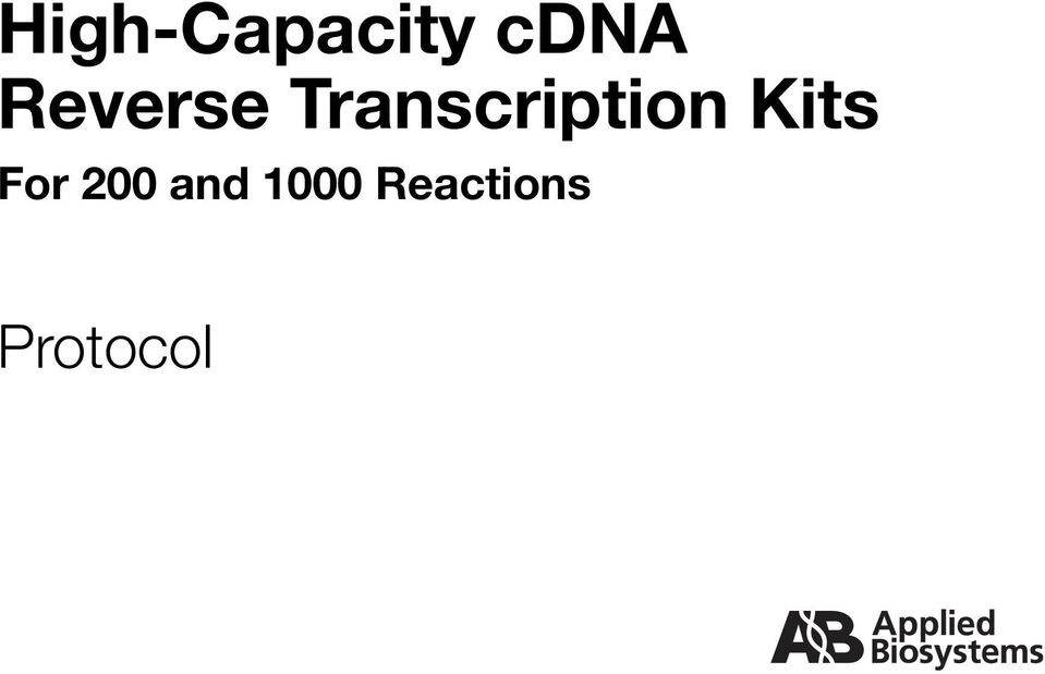 Transcription Kits