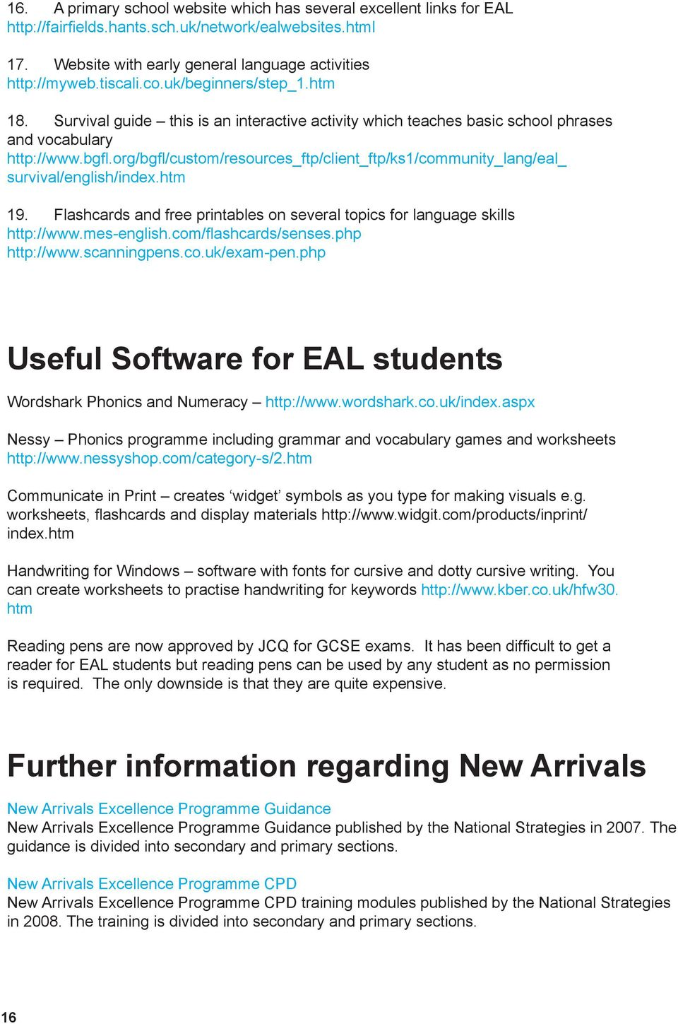 Bristol Secondary Schools EAL Induction Pack. Support materials for ...