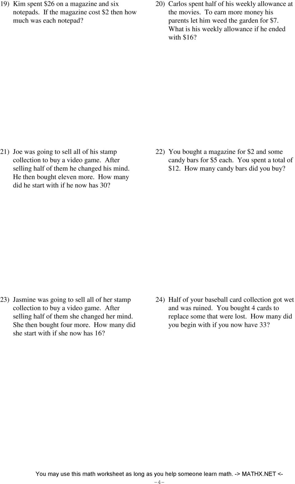 Two Step Equations Word Problems Tessshebaylo – Two Step Equations Word Problems Worksheet