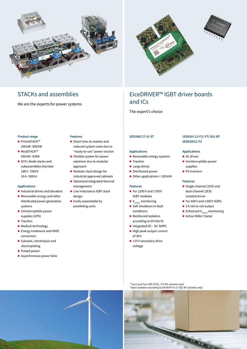 to modular Tractio Uiterruptible power subassemblies thyristor approach Large drives supplies 180 V - 2500 V Modular stack desig for Distributed power PV iverters 10 A - 5000 A idustrial approved