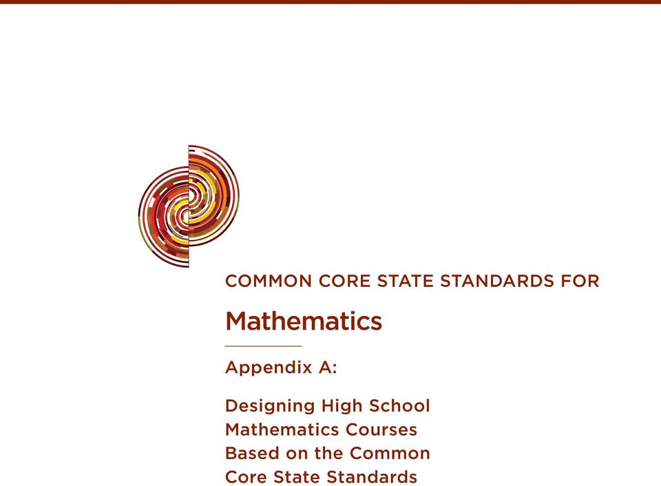 High School Mathematics Courses