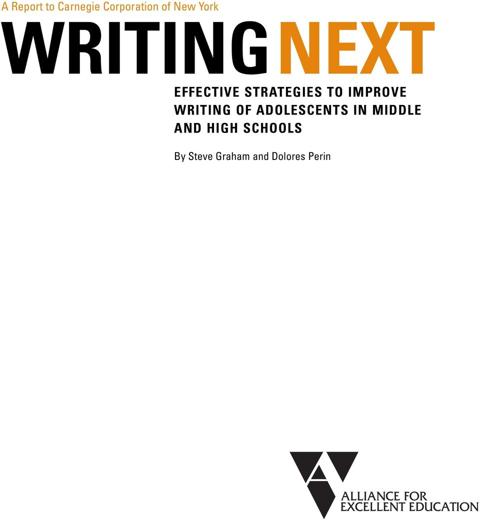 IMPROVE WRITING OF ADOLESCENTS IN MIDDLE