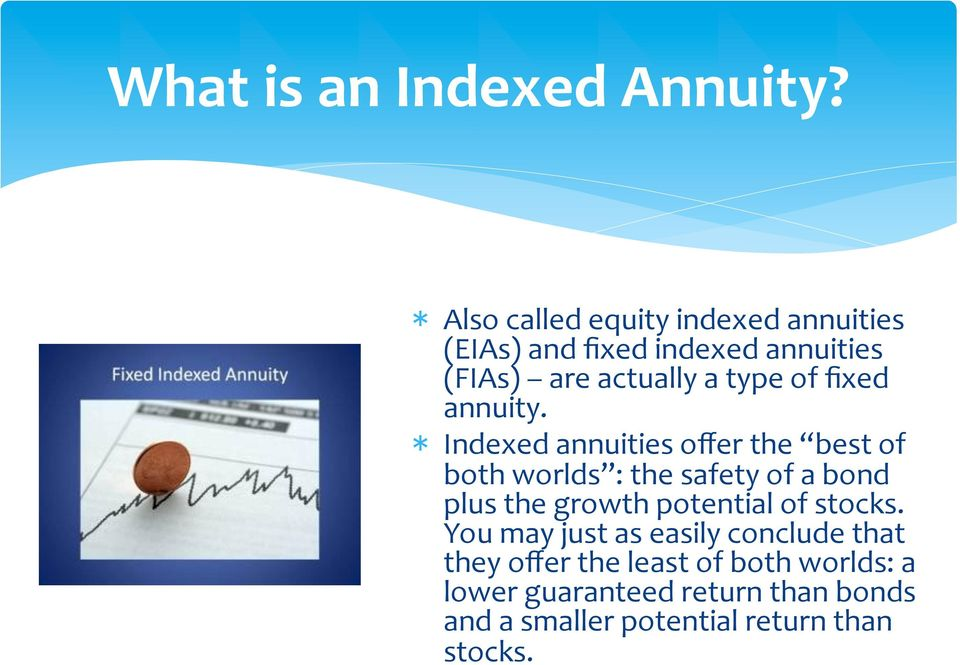 fixed annuity.