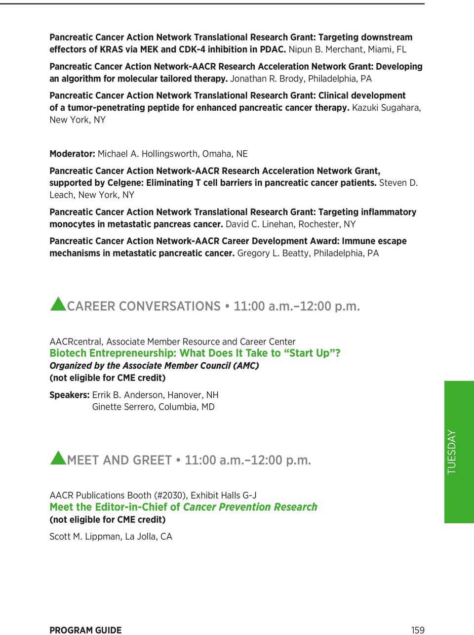 AACR Annual Meeting 2016 Program Guide PDF  Tuesday, April 19 - PDF