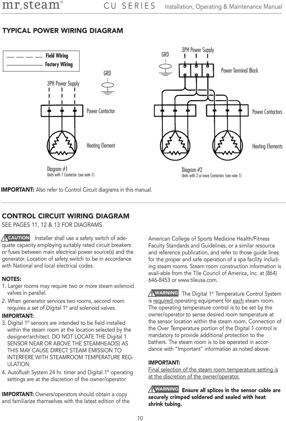 Mr Steam Wiring Diagram Auto Electrical 01v96 Block Installation Operation U0026 Maintenance Manual