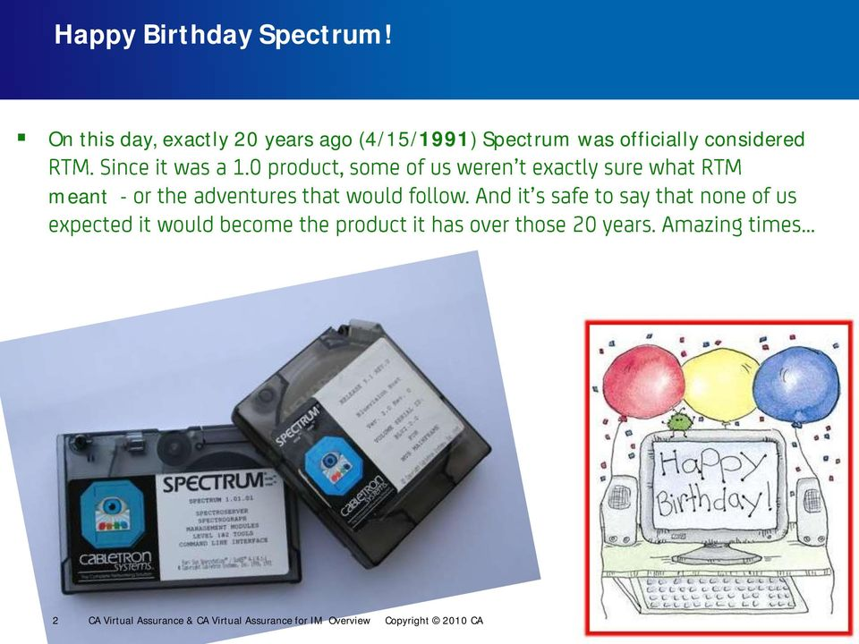Spectrum was officially considered meant - 2 CA