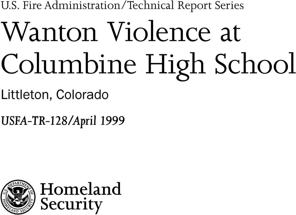 Columbine High School Littleton,