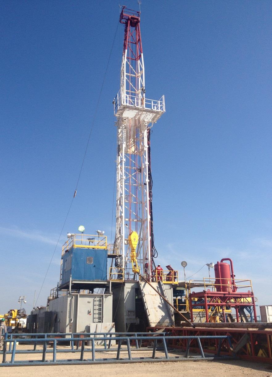 SPECIFICATIONS Drilling RIG Discovery-8 Brand: TRISERVICES-MASTCO Mast: 102 ft, 280.000 lbs W/TOPDRIVE. Nom. Capacity SHL: 280.000 lbs Single Drum.