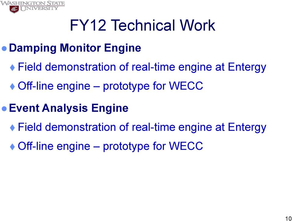 engine prototype for WECC Event Analysis Engine Field