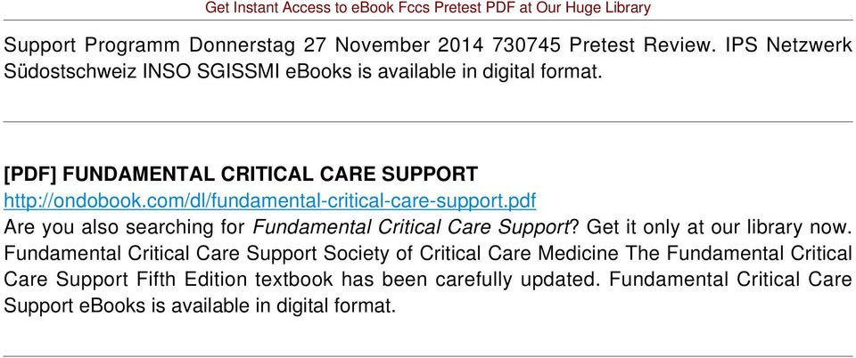com/dl/fundamental-critical-care-support.pdf Are you also searching for Fundamental Critical Care Support? Get it only at our library now.