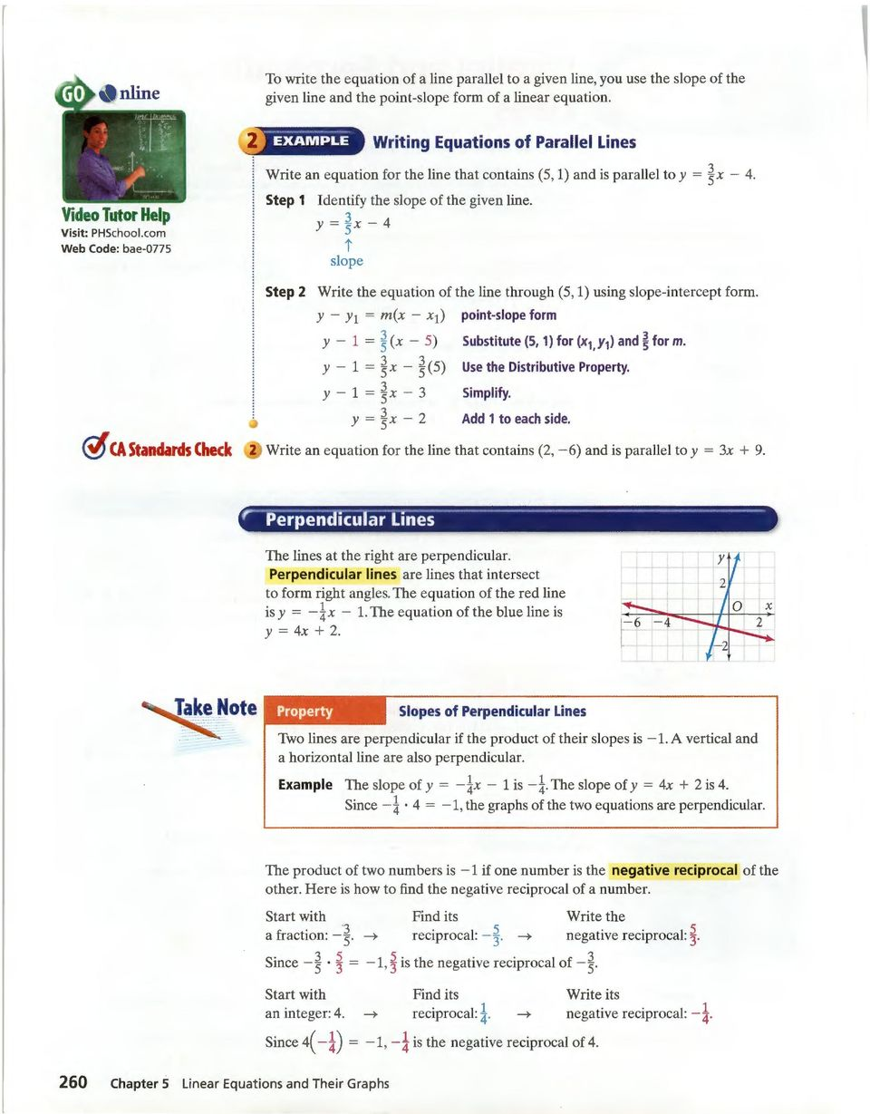 how to find the slope of a linear equation