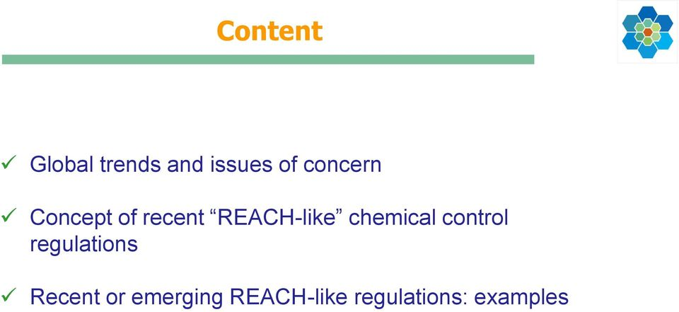chemical control regulations Recent or