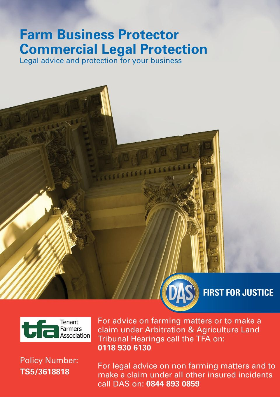 Arbitration & Agriculture Land Tribunal Hearings call the TFA on: 0118 930 6130 For legal