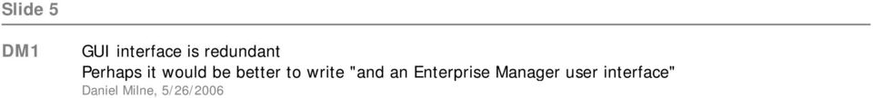 "better to write ""and an Enterprise"