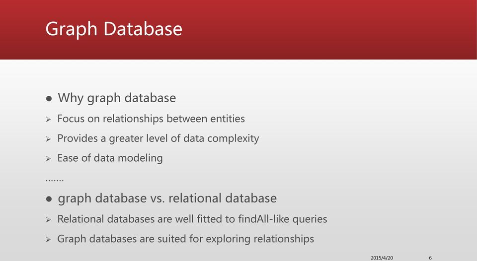graph database vs.