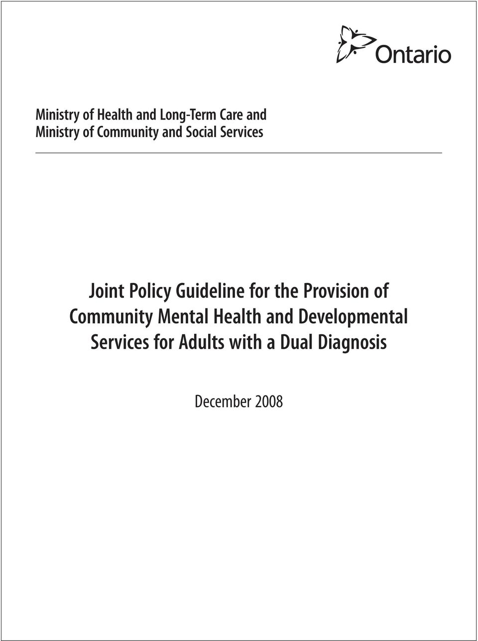 the Provision of Community Mental Health and