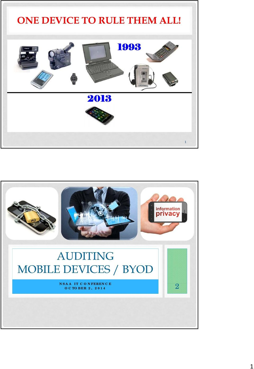 DEVICES / BYOD NSAA IT