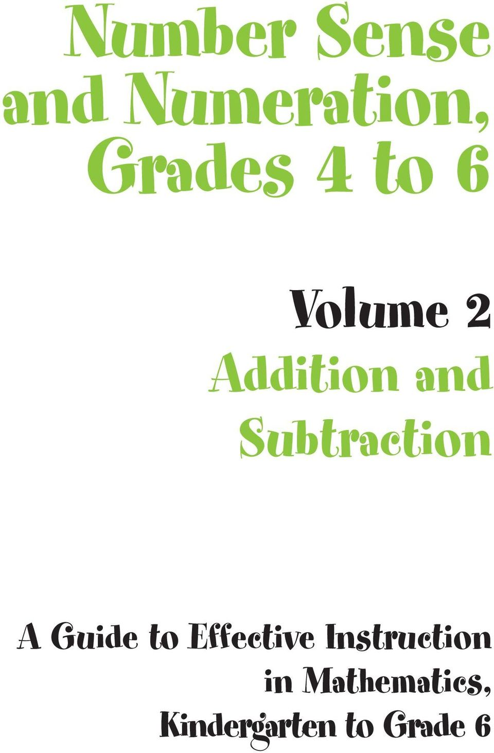 Subtraction A Guide to Effective