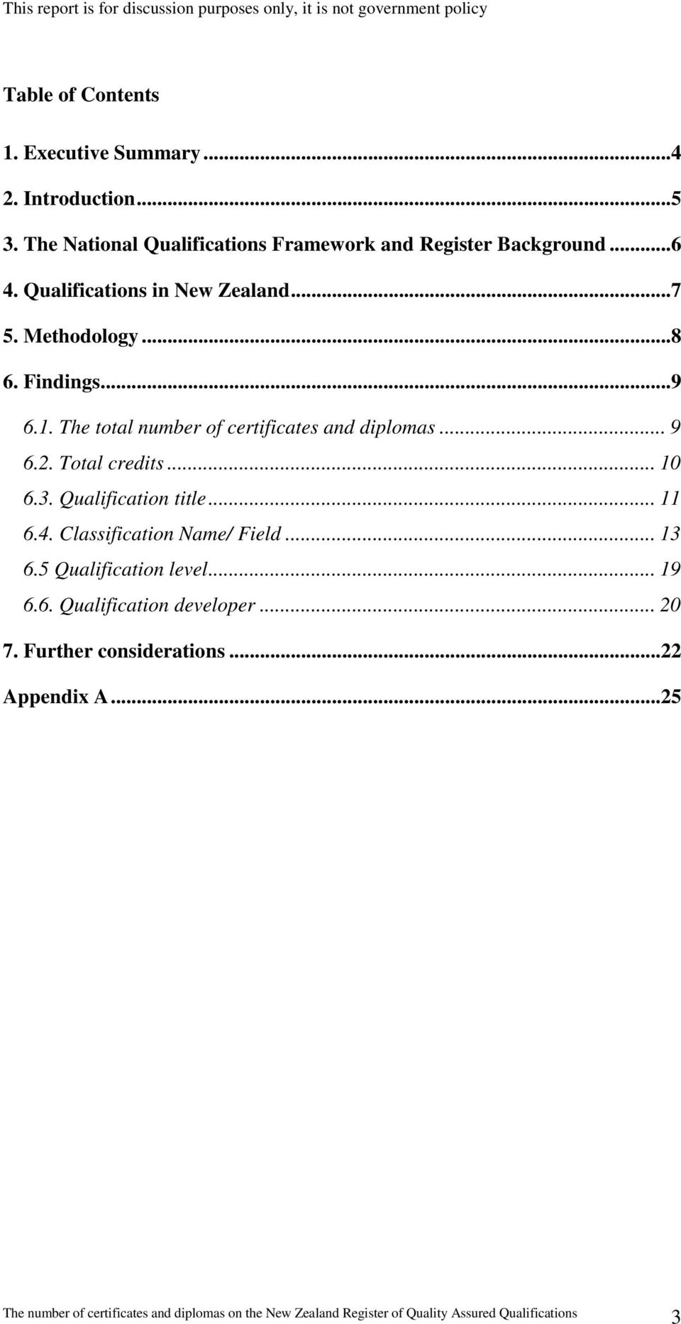 Methodology...8 6. Findings...9 6.1. The total number of certificates and diplomas... 9 6.2. Total credits... 10 6.3.