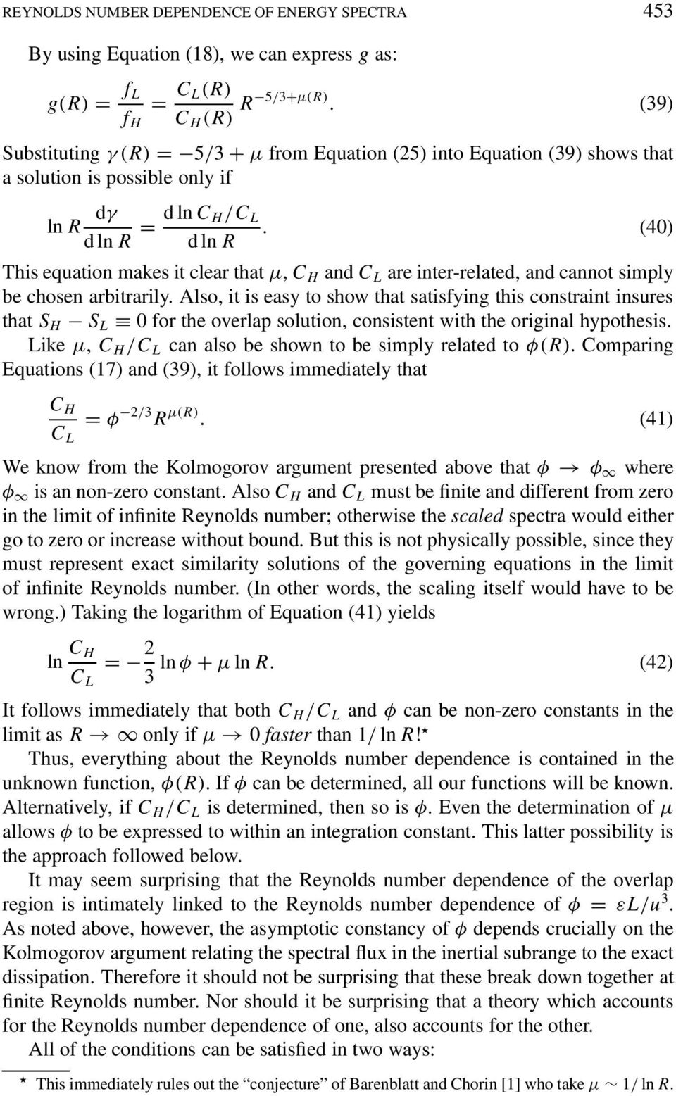 (40) This equation makes it clear that µ, C H and C L are inter-related, and cannot simply be chosen arbitrarily.